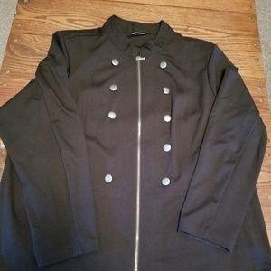 Avenue Zip Up Blazer ~ Size 26/28